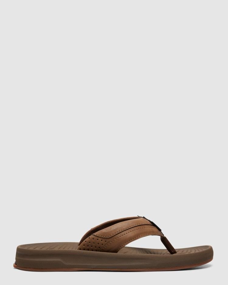 Quiksilver Mens Travel Oasis Sandals Thongs BROWN/BROWN/BROWN