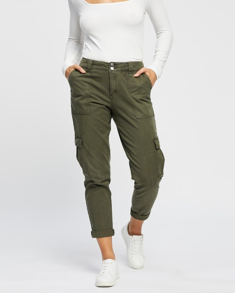 All About Eve Taylor Cargo Pants Khaki