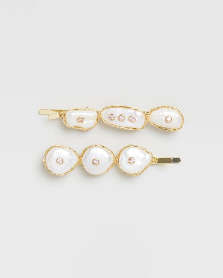 Amber Sceats Elle Hair Clip Set Accessories Pearl
