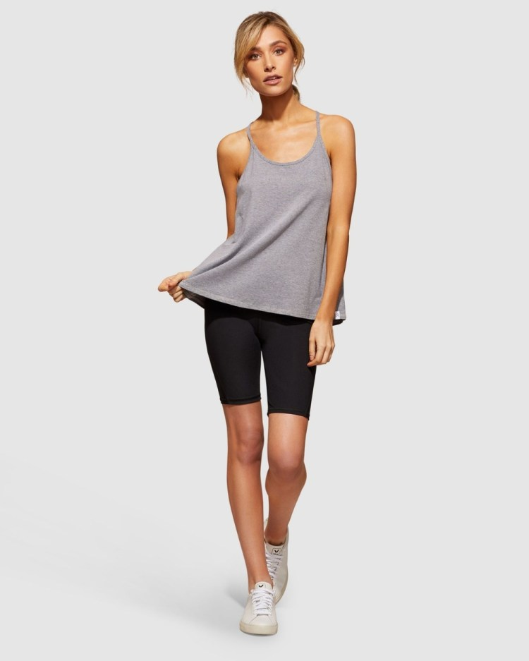dk active Explorer Tank Muscle Tops Charcoal White