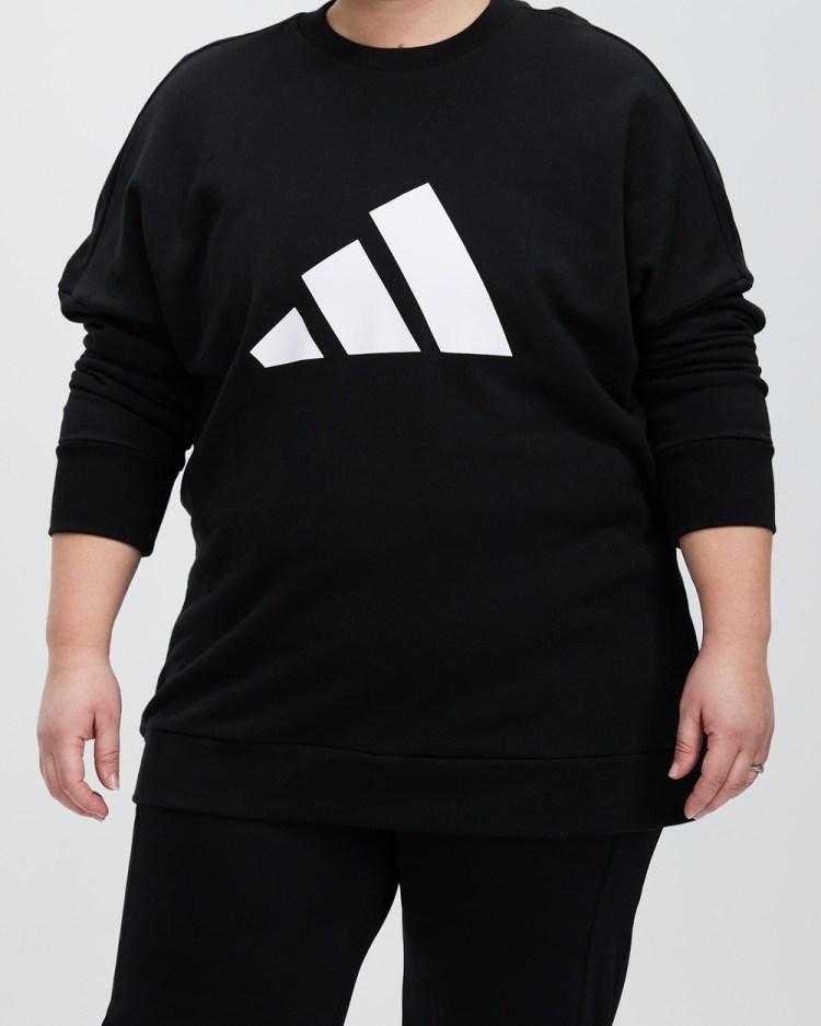 adidas Performance Plus Sportswear Future Icons Sweatshirt Crew Necks Black