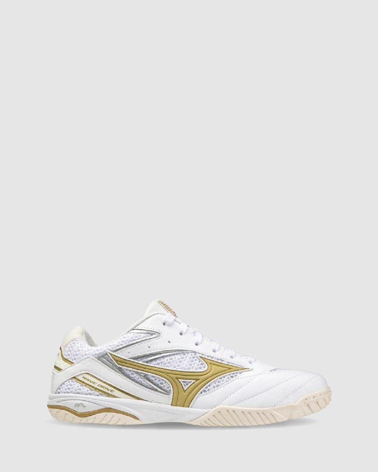 Mizuno WAVE DRIVE 8 Outdoor Shoes White Gold 52