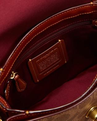 Coach - Cassie Cross Body 19 In Signature Canvas Bag - Handbags (Tan & Rust) Cassie Cross-Body 19 In Signature Canvas Bag