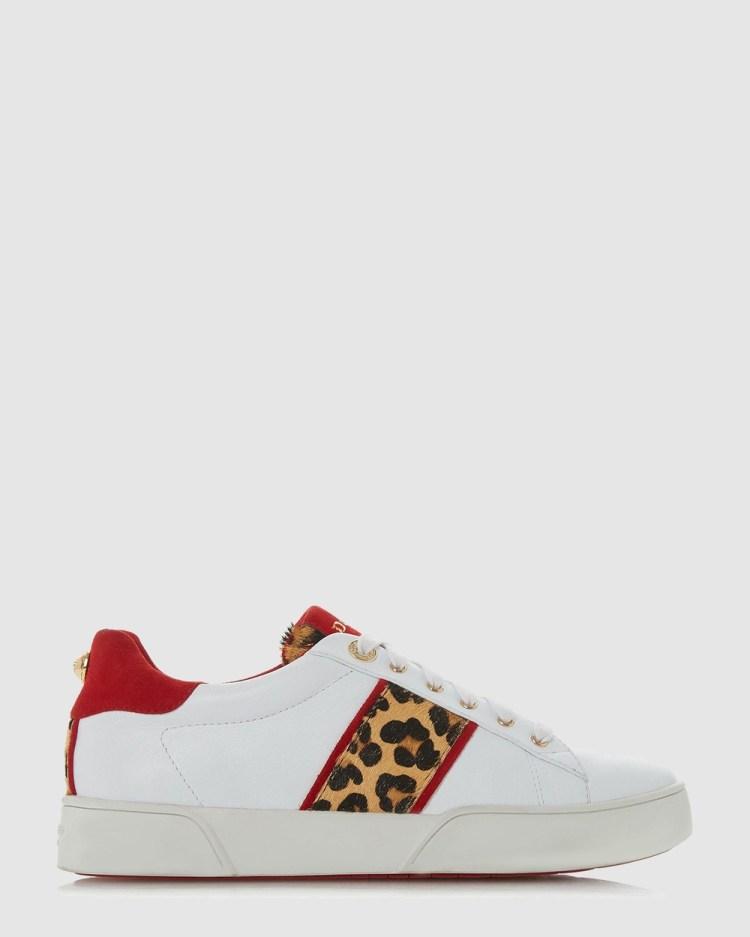 Dune London Elsie Low Top Sneakers White