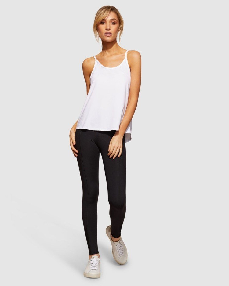 dk active Breeze Top Muscle Tops White
