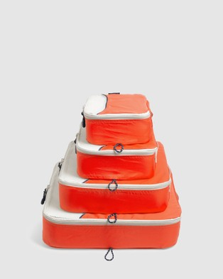 Globite - Packing Cubes 4 Piece - Travel and Luggage (Orange) Packing Cubes 4 Piece