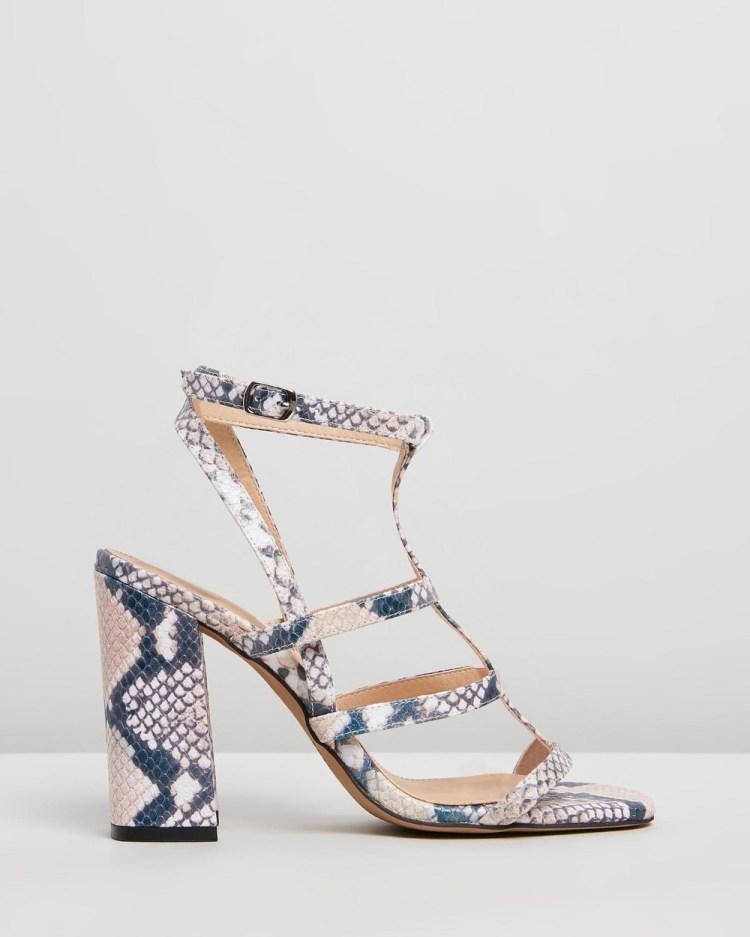 Siren Kristy Heels Multi Snake Print