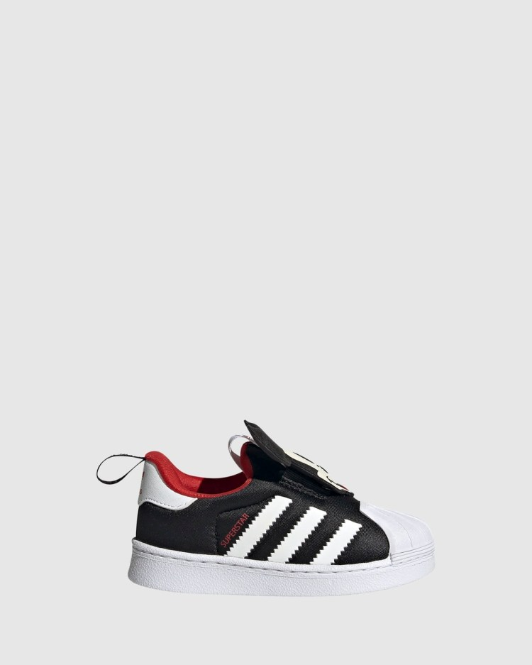 adidas Originals Superstar 360 Mickey Infant Sneakers Black/White/Red
