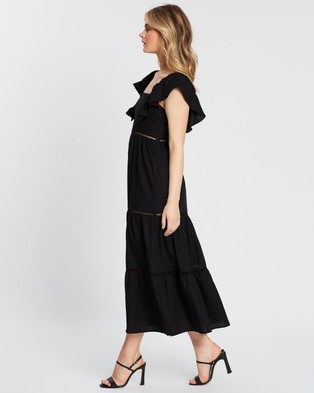 Atmos&Here - Clementine Ruffle Maxi Dress - Dresses (Black) Clementine Ruffle Maxi Dress