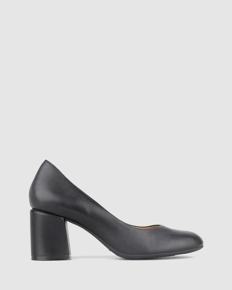 Airflex Waiver Leather Block Heel Pump All Pumps Black