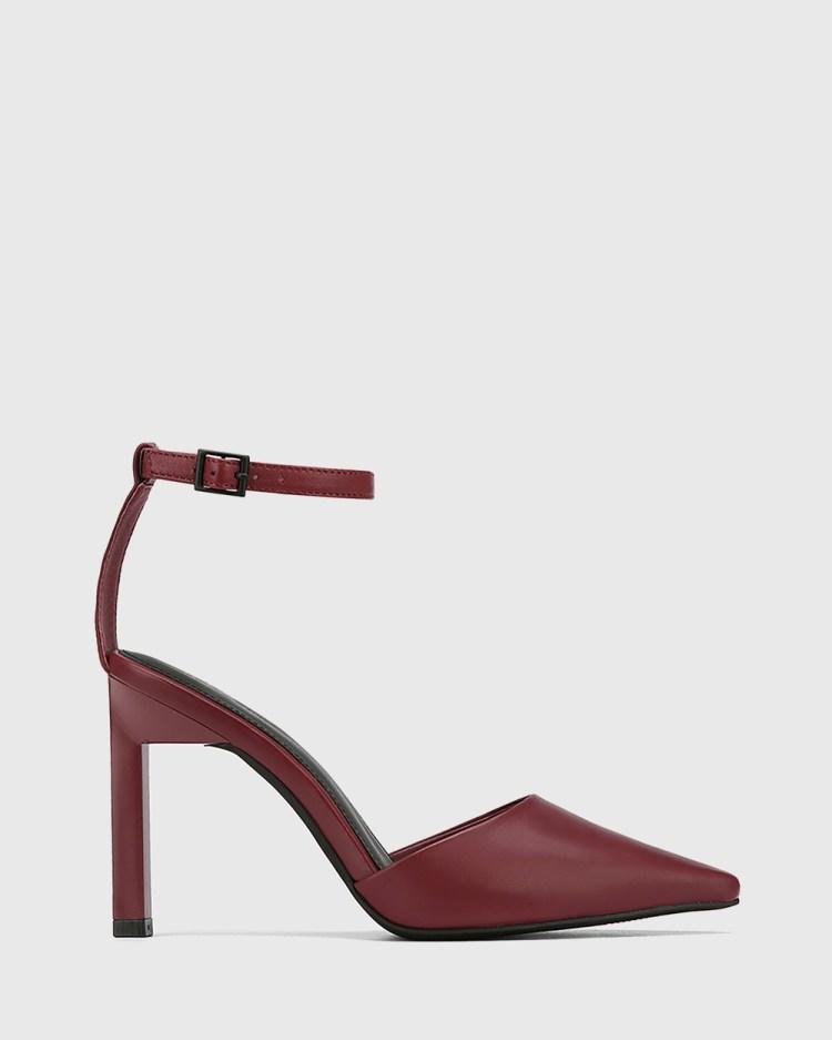 Wittner Hochi Leather Stiletto Heel Pumps All Red