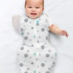 Love to Dream - SWADDLE UP?äó Transition Bag Lite 0.2 Tog - Sleeping bags (White & Multi Spots) SWADDLE UP?äó Transition Bag Lite 0.2 Tog