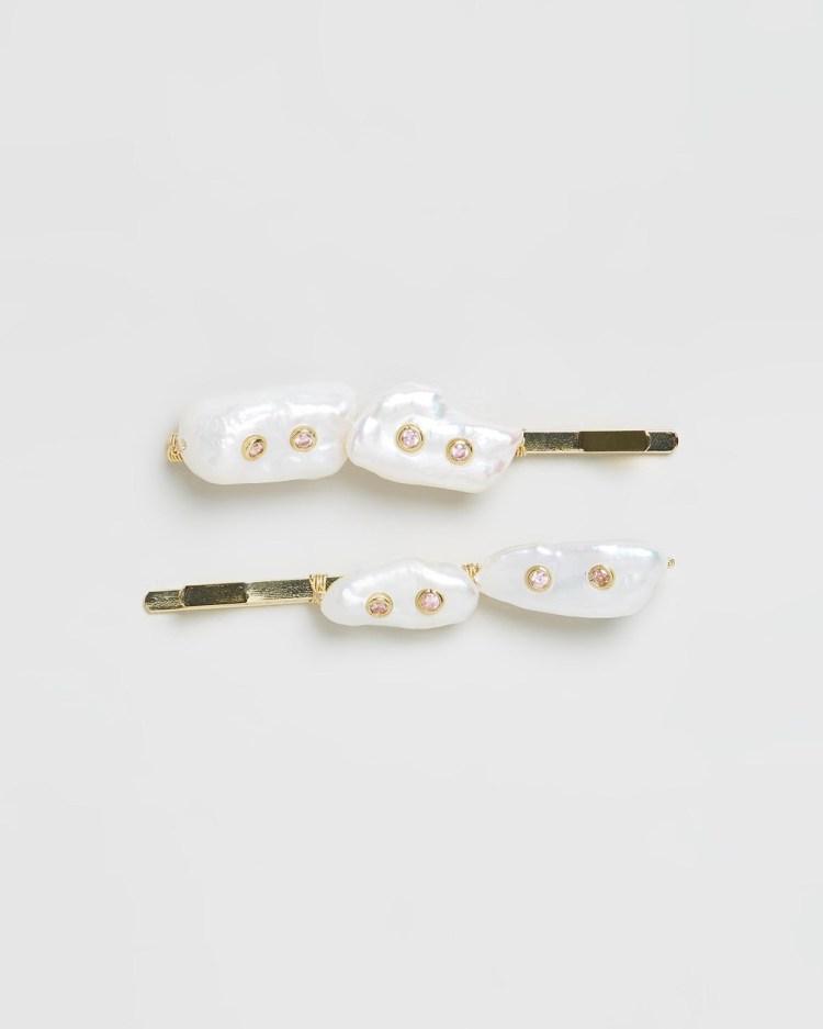Amber Sceats Chantelle Hair Clip Set Accessories Pearl
