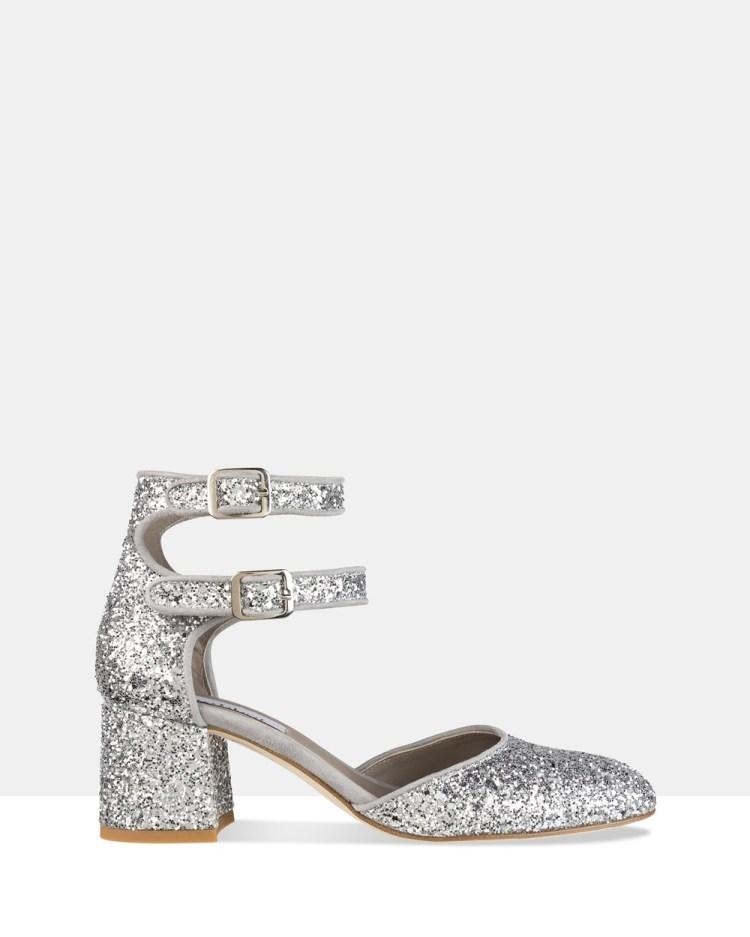 Habbot Dover Mid heel Pumps Sandals Silver Mid-heel