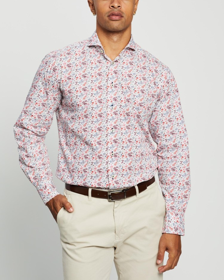 3 Wise Men The Verviers Tailored Shirt Shirts & Polos Multi Print