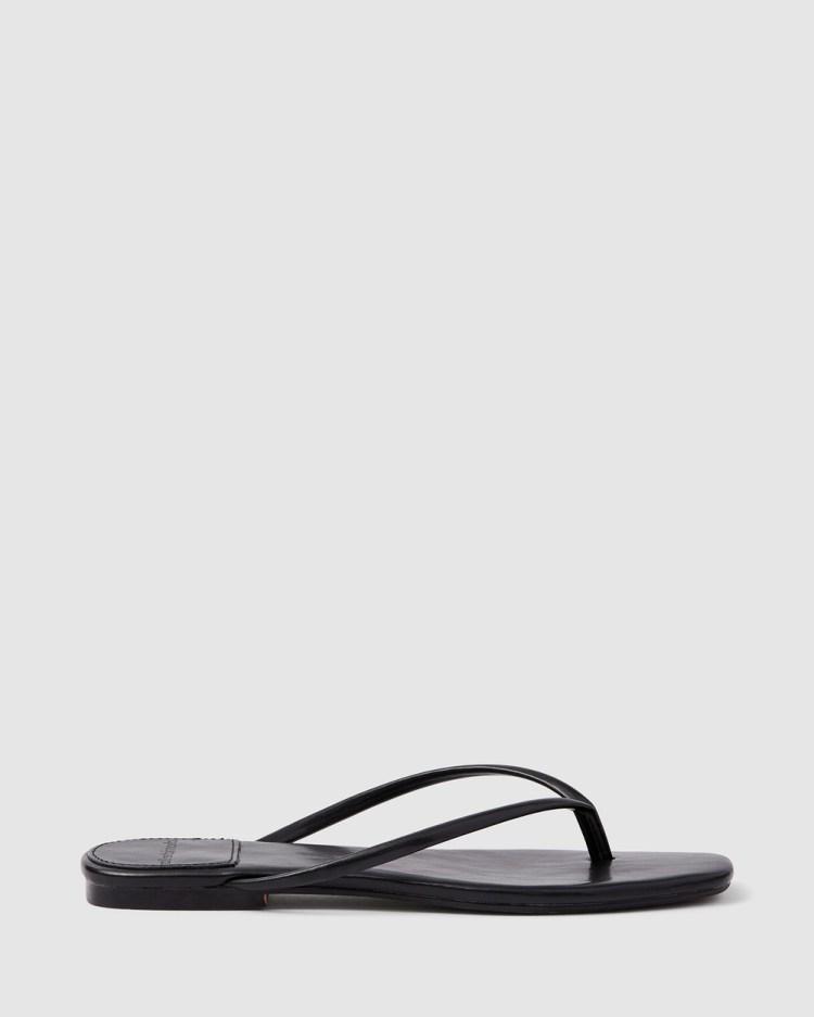 cherrichella Petal Sandals All thongs Black