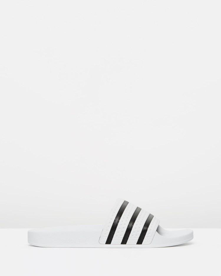 adidas Originals Adilette Unisex Slides White & Black