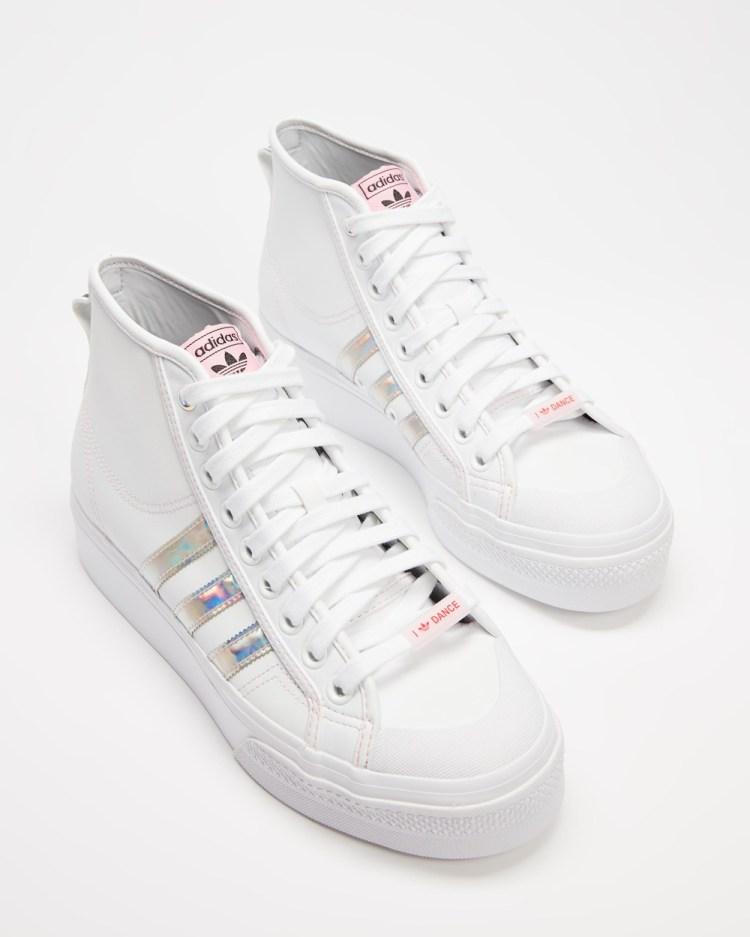 adidas Originals Nizza Platform Mid Women's High Top Sneakers White