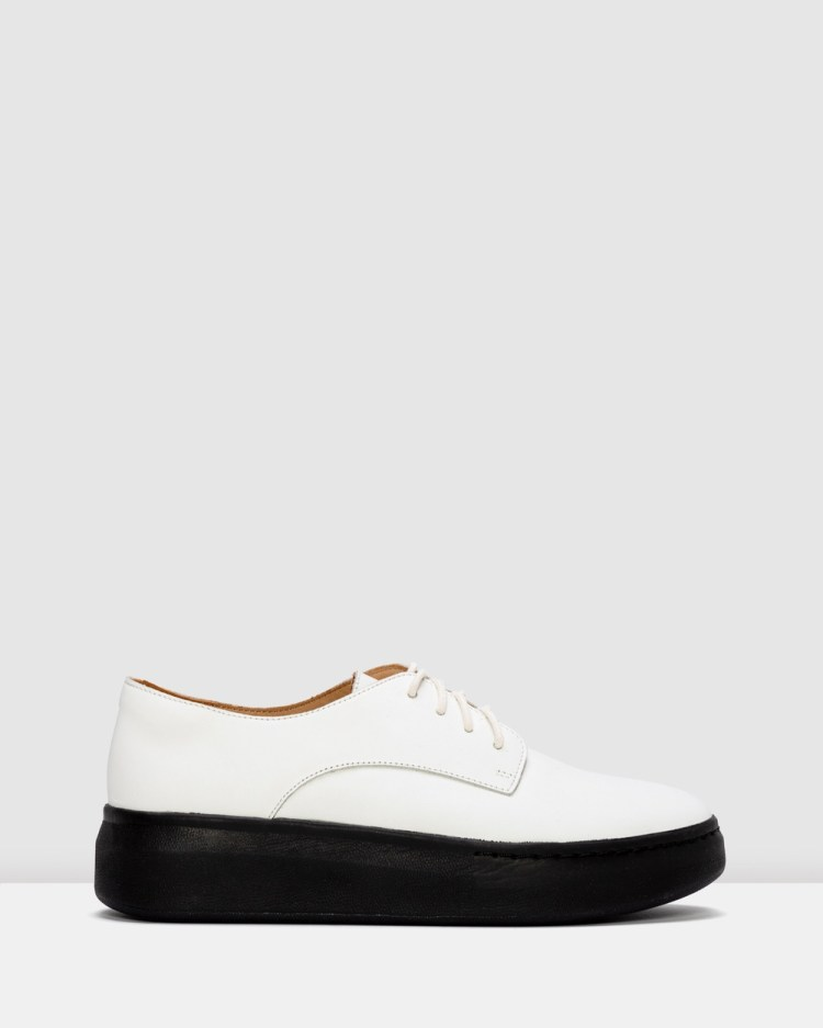 Rollie Derby City Shoes Flats White