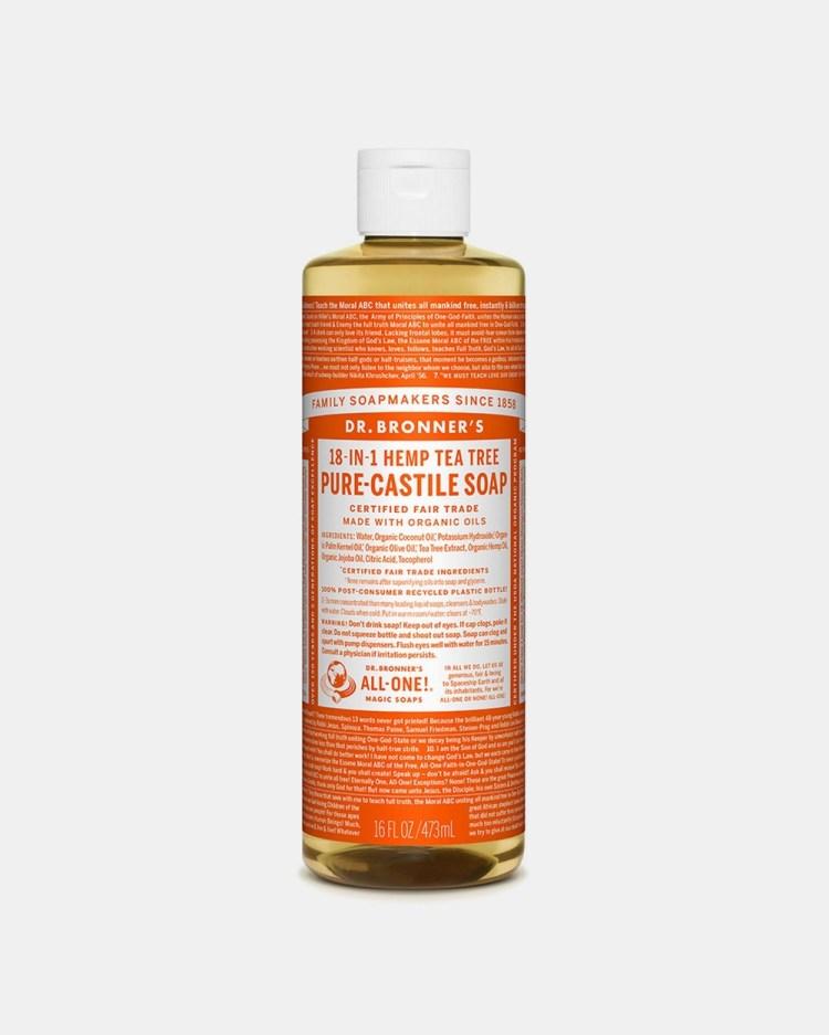 Dr Bronner's Pure Liquid Castile Soap Tea Tree 473ml Beauty Orange