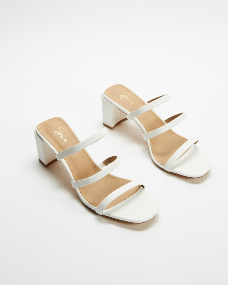 SPURR Audrey Heels Mid-low heels White Smooth