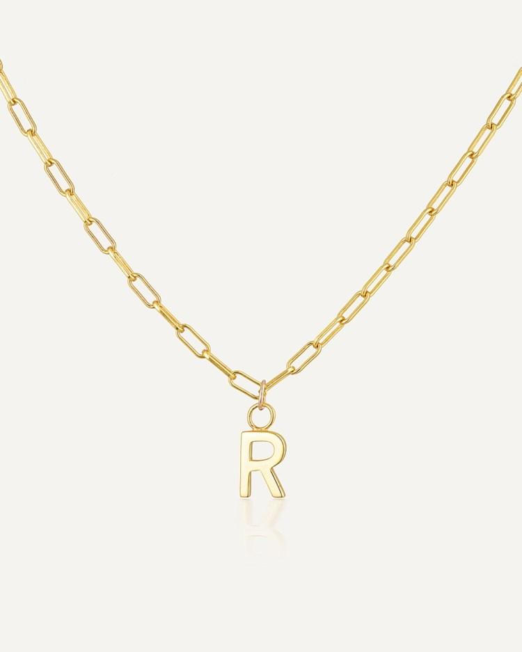 Avant Studio Letter R Necklace Jewellery Gold