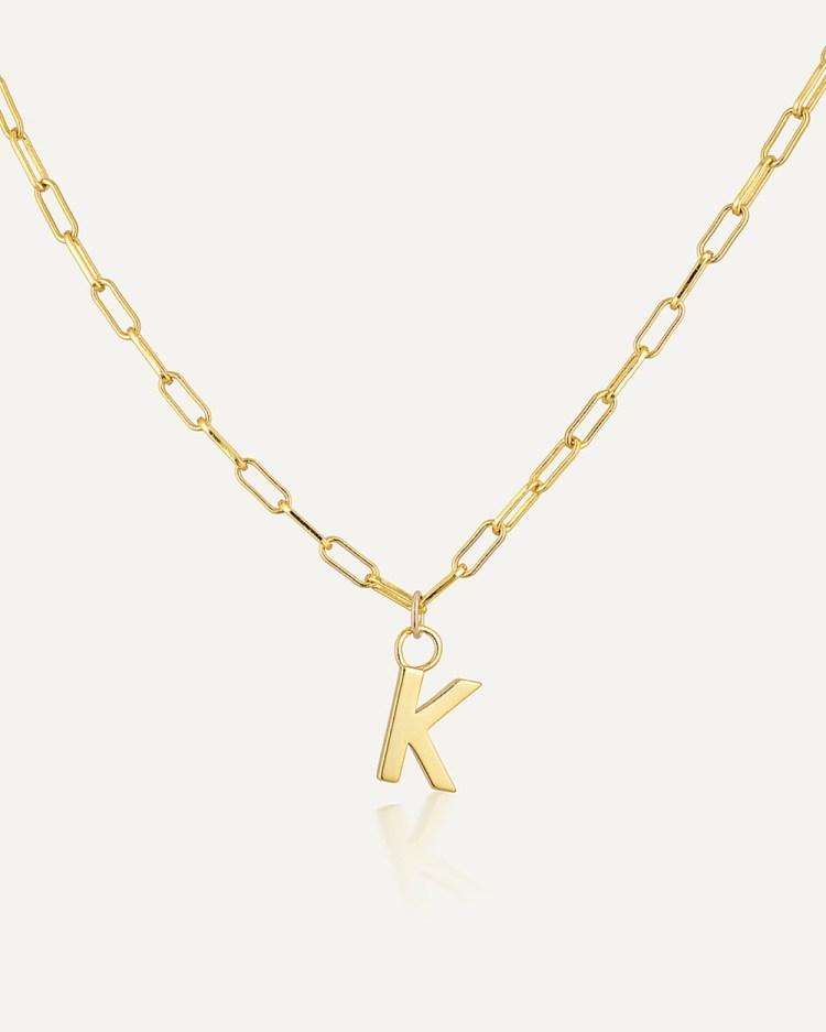 Avant Studio Letter K Necklace Jewellery Gold