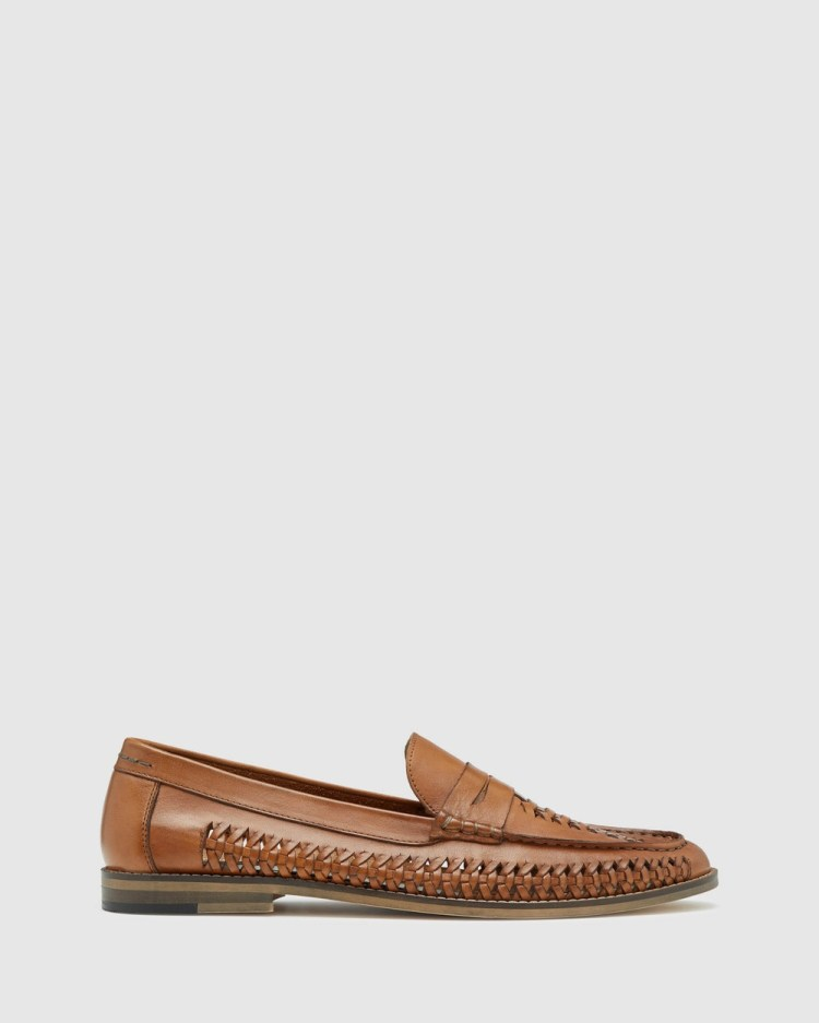 Oxford Hazaar Leather Mandal Casual Shoes Brown