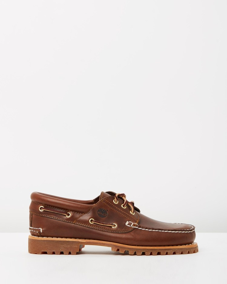 Timberland 3 Eye Classic Lug Casual Shoes Brown Pull-Up 3-Eye