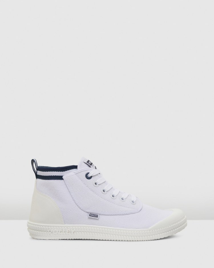 Volley Heritage High Top Sneakers White/Navy