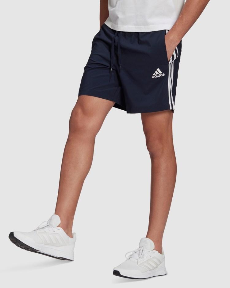 adidas Performance AEROREADY Essentials Chelsea 3 Stripes Shorts Blue 3-Stripes