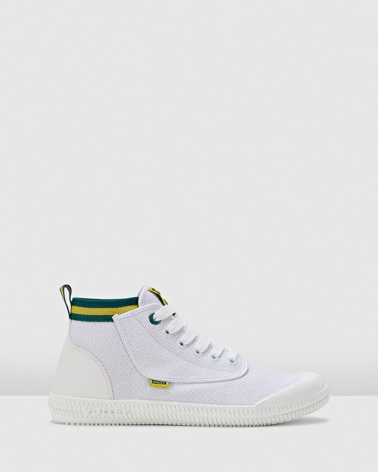 Volley Heritage High Top Sneakers White/Green/Gold