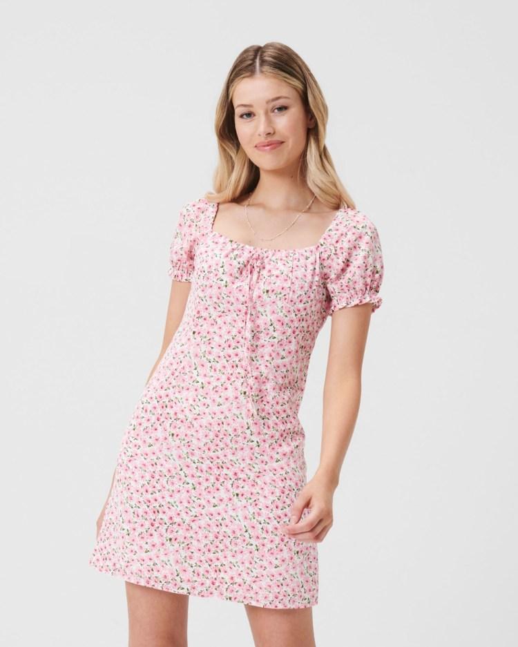 ids Nikki Puff Sleeve Dress Dresses Floral