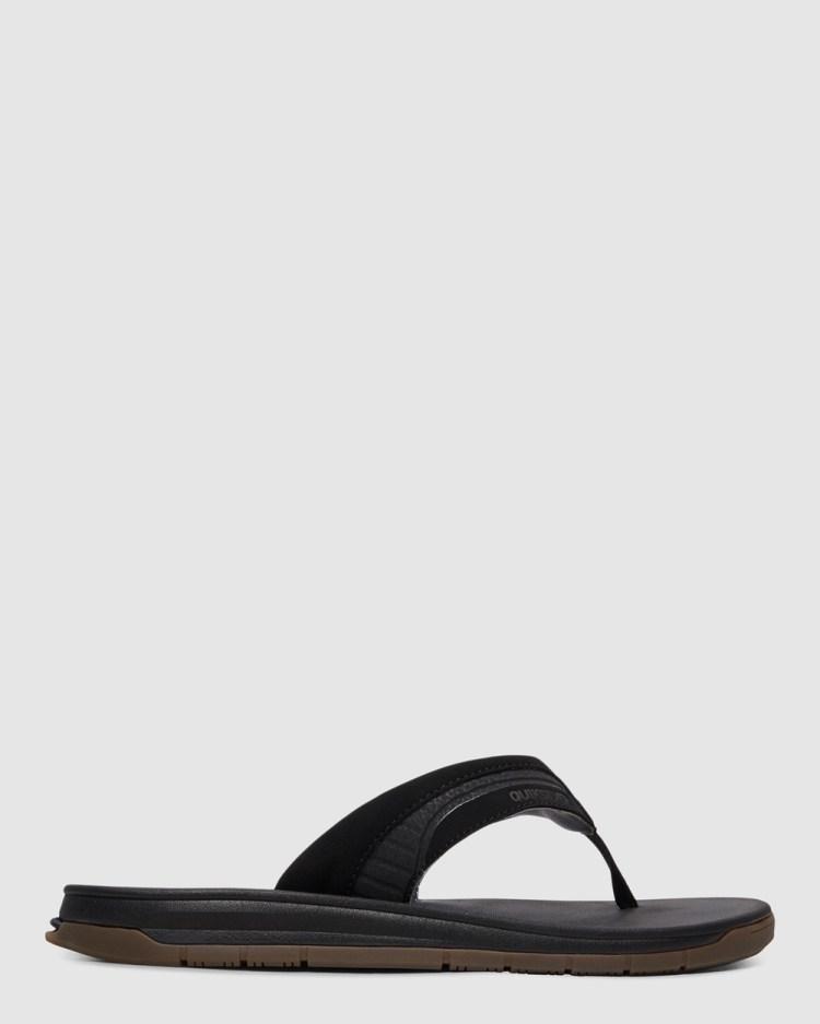 Quiksilver Mens Coastal Excursion Sandals Thongs BLACK/BLACK/BROWN