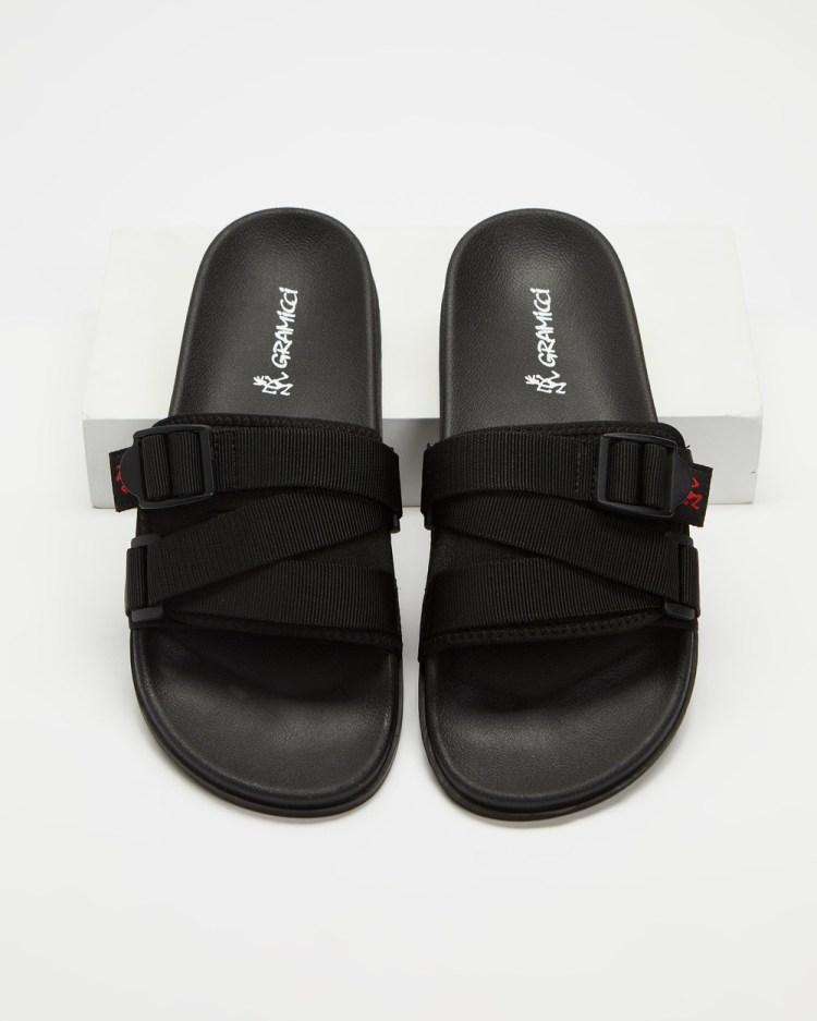 Gramicci Slide Sandals Unisex Slides Black