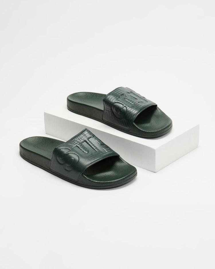 Superga 1908 Slides Women's Sandals Dark Green