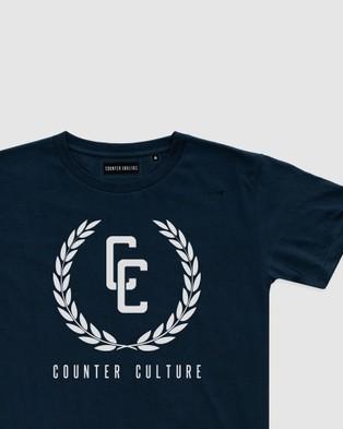 Counter Culture Garland Logo Tee Teens T-Shirts & Singlets NAVY