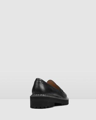 Jo Mercer Unity Loafers Flats BLACK LEATHER