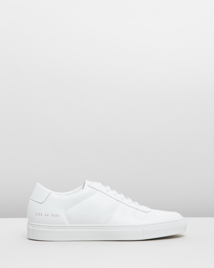 Common Projects Bball Low Leather Mens Sneakers White