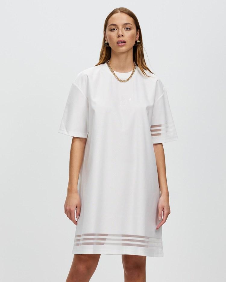 adidas Originals Tee Dress Dresses White