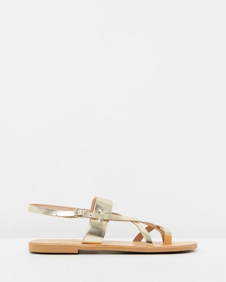Ammos Myrto Sandals Gold