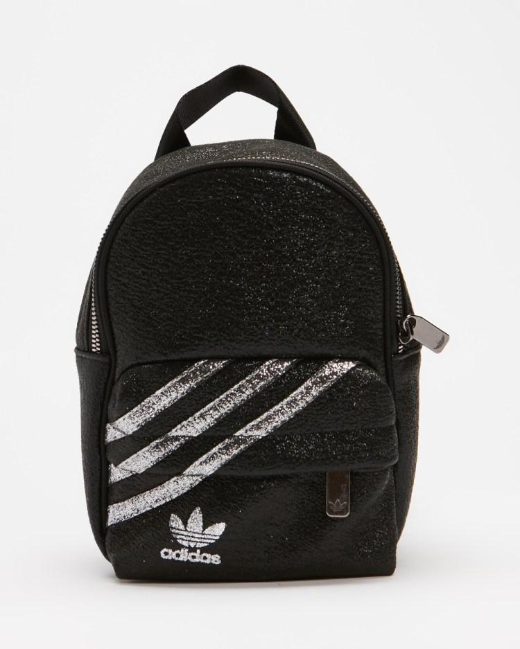 adidas Originals Mini Backpack Backpacks Black & Silver Metallic