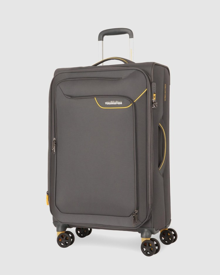 American Tourister Applite 4Security Spinner 82 31 EXP TSA Travel and Luggage Lightning Grey 82-31