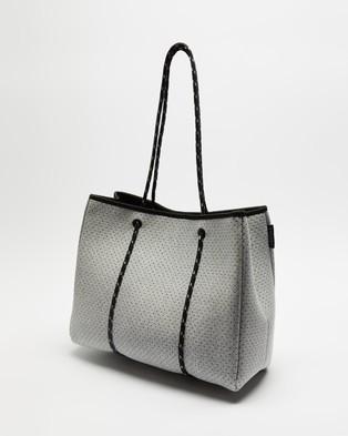 Decjuba Kids Neoprene Tote Bag Teens Bags Grey Marle