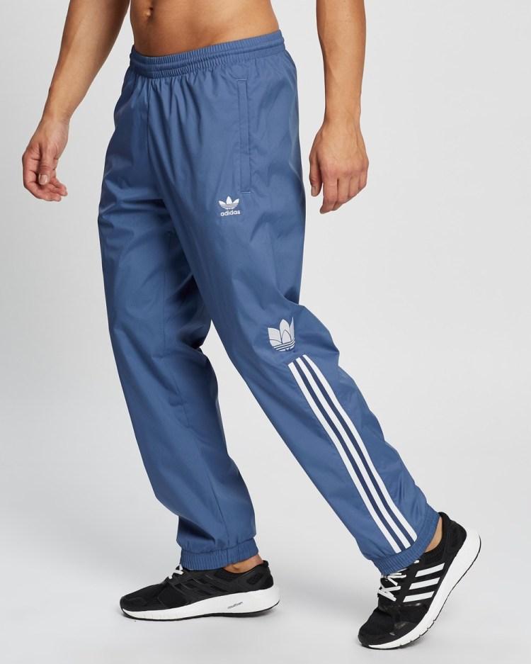adidas Originals Adicolor 3D Trefoil 3 Stripes Track Pants Crew Blue 3-Stripes