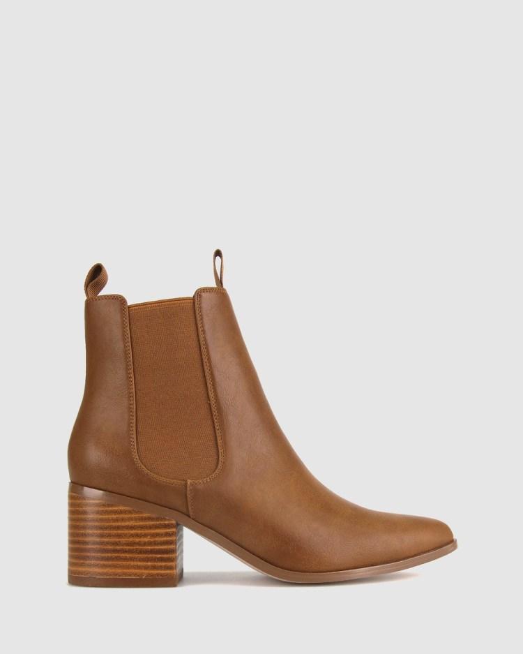 Betts Stroll Chelsea Boot Heels Tan