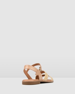 Jo Mercer Gypsy Flat Sandals Natural Raffia