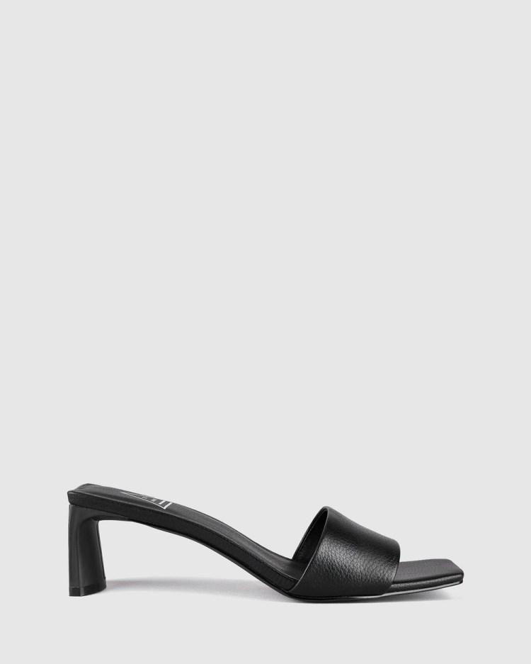 St Sana Mae Mules Heels Black