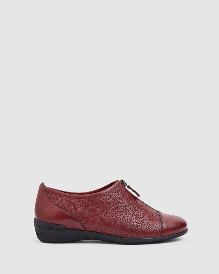 Wide Steps Wiley Casual Shoes RED