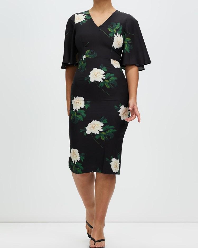 Romance by Honey and Beau Jadore Dress Dresses Black & Green